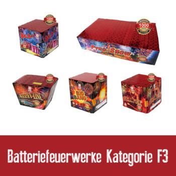 Batteriefeuerwerk Kategorie F3
