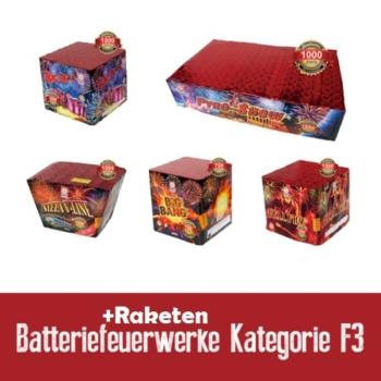 Batterie / Raketen Feuerwerk Kategorie F3/F4
